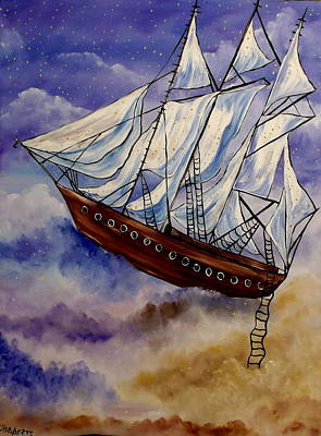 Painting - Sailing On Dreams by Lisa Aerts