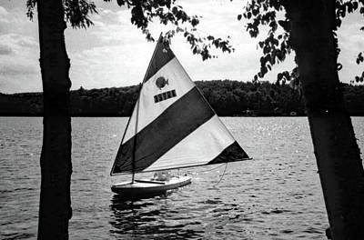 Landscape Photograph - Sailing On Lake Dunmore No. 1-1 by Sandy Taylor