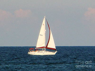 Photograph - Sailing On Lake Michigan by Kay Novy