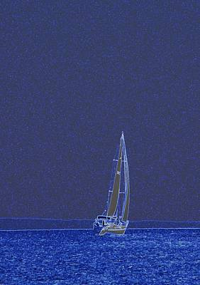 Photograph - Sailing On Mondays Blues by J R Seymour