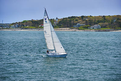 Photograph - Sailing On Nantucket Sound by Walter Rowe