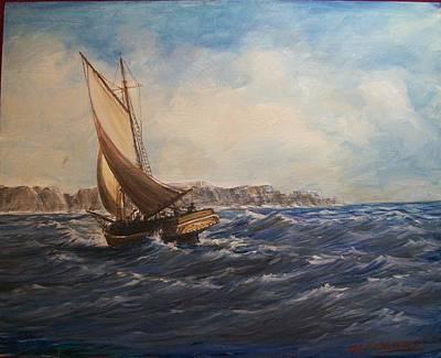 Sailing On Narragansett Bay Art Print