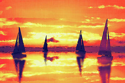 Sailing On Reflection Bay Bold Art Print