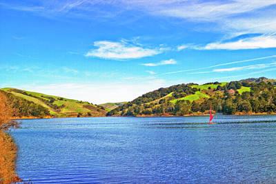 Photograph - Sailing On San Pablo Dam Reservoir by Joyce Dickens
