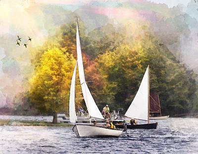 Photograph - Sailing On Summersville Lake by Mary Almond