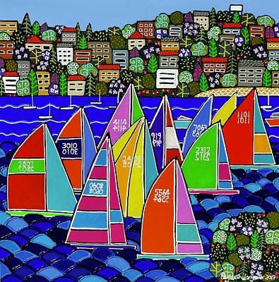Painting - Sailing On Sydney Harbour by Elizabeth Langreiter