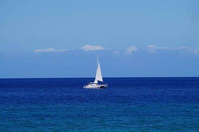 Photograph - Sailing On The Blue Ocean by Pamela Walton