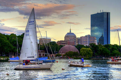 Sailing On The Charles River - Boston Art Print by Joann Vitali