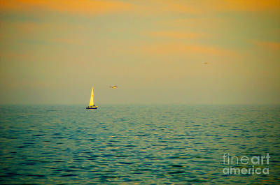 Great Lakes Digital Art - Sailing On The Great Lakes by Mary Machare