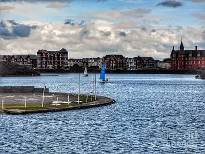 Photograph - Sailing On The Marine Lake Southport by Joan-Violet Stretch