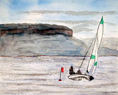 Bouys Painting - Sailing On Thunder Bay by R Kyllo