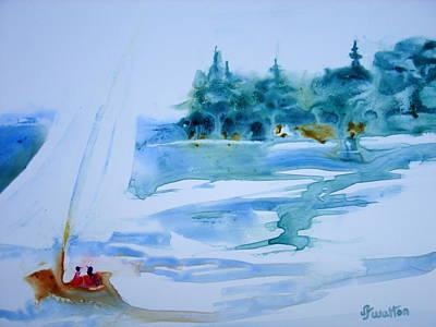 Sailing On Yupo Art Print by Judy Fischer Walton