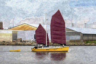 Mixed Media - Sailing Out Of Baltimore - Paint Fx by Brian Wallace