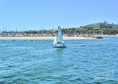 Photograph - Sailing Out Of The Harbor by Joe Lach