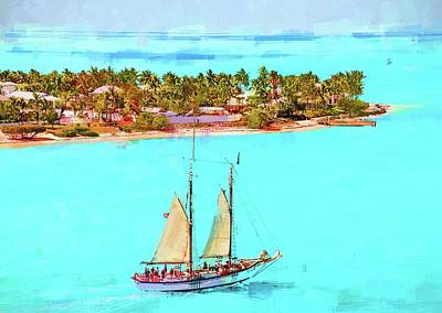 Photograph - Sailing Past Sunset Key by Alice Gipson