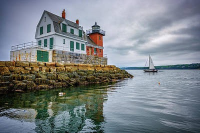 Penobscot Bay Photograph - Sailing Past The Breakwater by Rick Berk