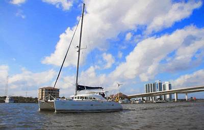 Photograph - Sailing Past The Marina Grande by Alice Gipson