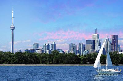 Photograph - Sailing Past Toronto  by Elaine Manley