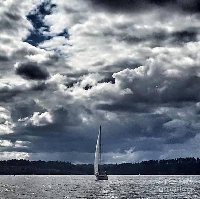 Photograph - Sailing Puget Sound by Vennie Kocsis