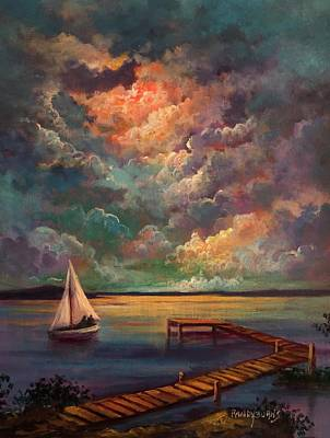 Painting - Sailing by Randy Burns