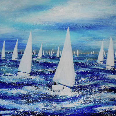 Painting - Sailing Regatta  by K McCoy