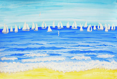 Painting - Sailing Regatta White 2 by Irina Afonskaya