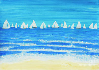Painting - Sailing Regatta White by Irina Afonskaya