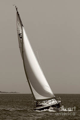 Sailboat Photograph - Sailing Sailboat Sloop Beating To Windward by Dustin K Ryan