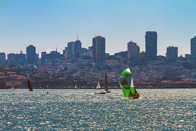 Photograph - Sailing San Francisco Bay 2 by Bonnie Follett