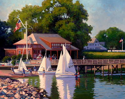 Painting - Sailing School Finale by Dianne Panarelli Miller