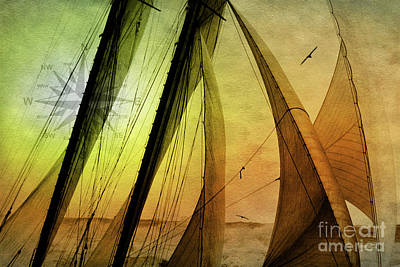 Photograph - Sailing Schooner From The Past by Jan Brons