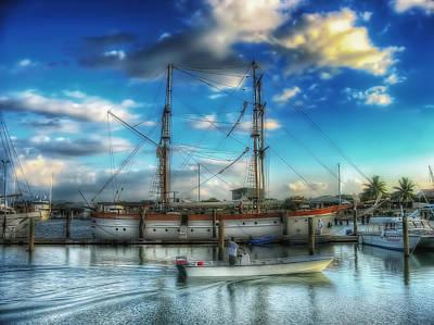 Digital Art - Sailing Ship Fiji by Leigh Kemp