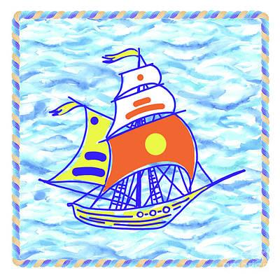Wall Art - Painting - Sailing Ship - Kids' Rooms # 1 by Svetlana Titarenko