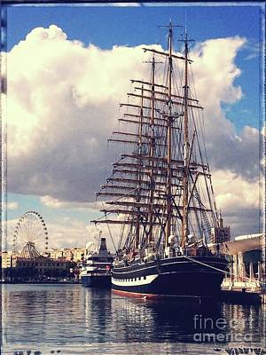 Photograph - Sailing Ship, Kruzenshtern by Jackie Mestrom