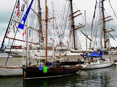 Photograph - Sailing Ships by Stephanie Moore