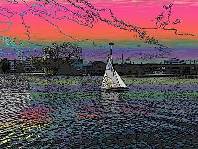 Sailing South Lake Union Art Print by Tim Allen