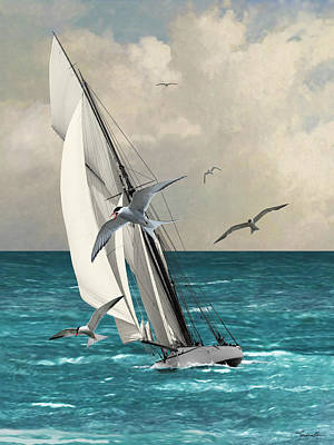 Digital Art - Sailing Southern Seas by IM Spadecaller