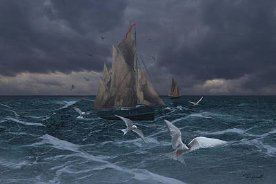 Digital Art - Sailing by IM Spadecaller