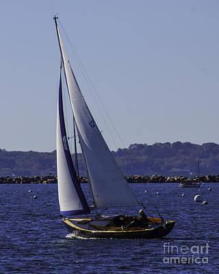 Old Masters Royalty Free Images - Sailing Stonington Harbor Royalty-Free Image by Joe Geraci