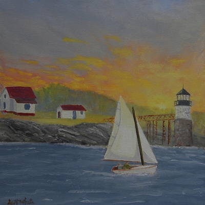 Painting - Sailing Sunrise by Scott W White