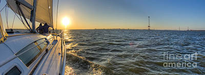 Charters Photograph - Sailing Sunset by Dustin K Ryan
