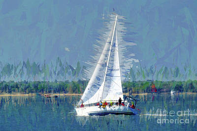 Digital Art - Sailing - Take Me Away by Scott Cameron