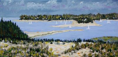 Painting - Sailing The Bay by Mike Caitham