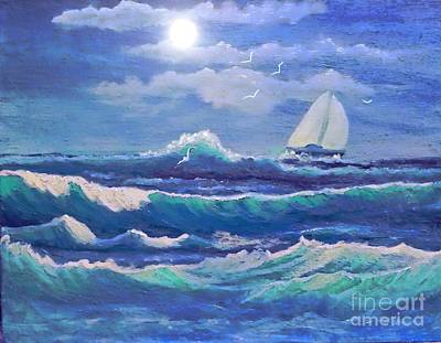 Sailing The Caribbean Art Print by Holly Martinson