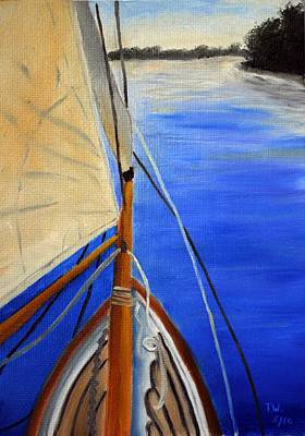 Tim Painting - Sailing The Choptank by Tim Webster