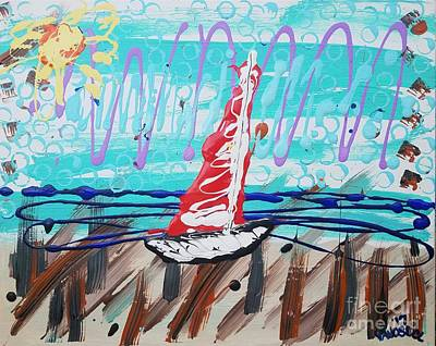 Painting - Sailing The Coast Abstract by Scott D Van Osdol