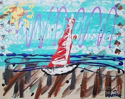 Painting - Sailing The Coast Abstract by Scott D Van Osdol