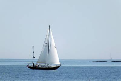 Sailing The Coast Art Print