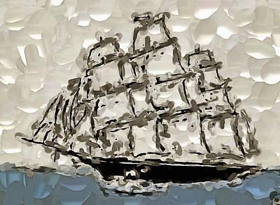 Digital Art - Sailing The High Seas by Mario Carini