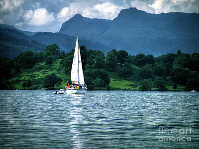 Photograph - Sailing The Lakes by Lance Sheridan-Peel